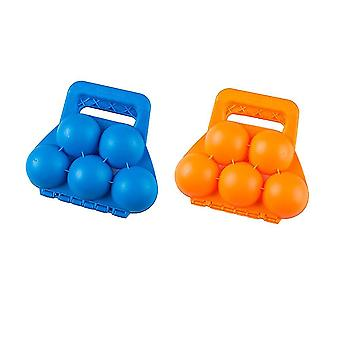 2 Pcs Outdoor Snowball Maker Snowball Clip Snowball Clamp Winter Activities Supply Children Toy Kids Game Props(random Color)