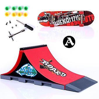 Mini Finger Skating Board Venue Combination Toys Skate Park Ramp Toy Children Skateboard Ramp Track
