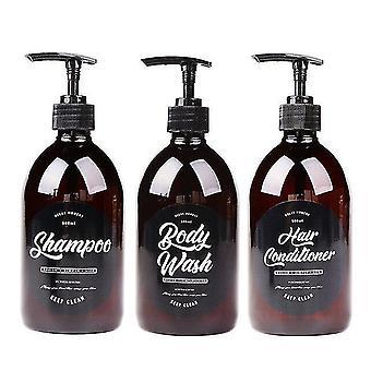 new 1 set scandinavian cute storage bottle for liquid shampoo conditioner and body sm48277