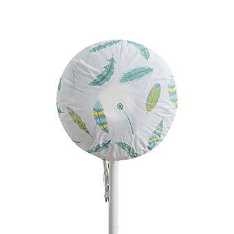 Fan Dust Cover Waterproof Standing Household Full-inclusive Electric Fan Cover Feather Pattern