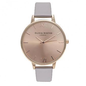 Ver OLIVIA BURTON gran Dial OB15BD58 - reloj cuero gris mujer