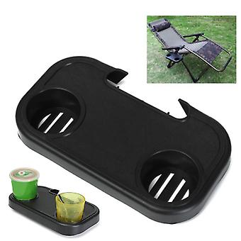 Portable Folding Chair Side Tray Casual For Drink Camping Picnic Outdoor Beach Garden