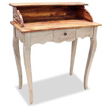vidaXL Skrivebord Genvundet Træ Solid 80 x 40 x 92 cm
