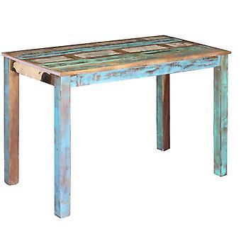 طاولة غرفة الطعام vidaXL المستصلحة الخشب 115x60x76 سم