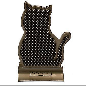 Feste Türnaht Katzenreibvorrichtung, Haarentfernungs- und Anti-Juckreiz-Massagebürste, Katzenreibbürste