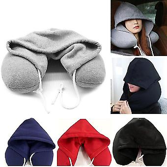 U-shaped Neck Pillow With Hood