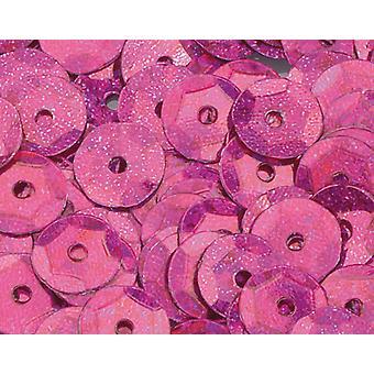 6mm ljust rosa holografiskt runda kupade paljetter - 4000pk