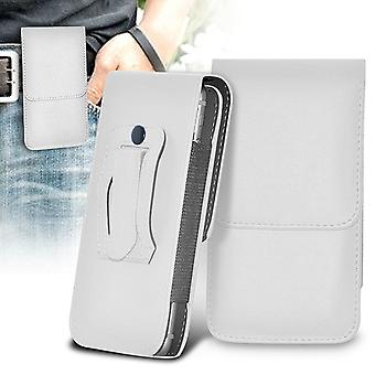 (Wit) Sony Xperia X (2017) Case Vertical PU Leather Belt Holster Pouch Cover