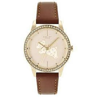 Radley Ry21180 Gold Dial Leather Strap Ladies Watch