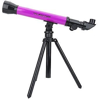 Télescope, télescope astronomique spatial monoculaire jouet avec oculaires 20X / 40X / 60X et trépied pour les enfants débutants Enfants Cadeau éducatif, (violet)