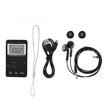 Récepteur radio de poche avec écran lcd- écouteur et batterie rechargeable