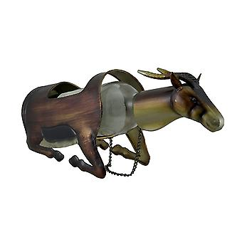 Metal Gazelle Single Bottle Holder Wine Display