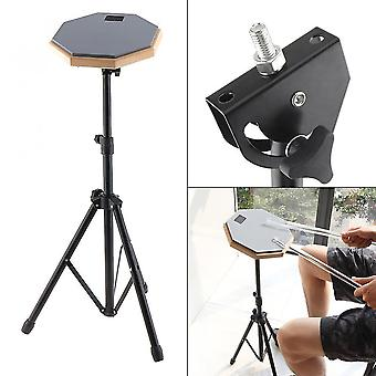 Drum kits rubber wooden dumb drum beginner practice training pad with stand / stick