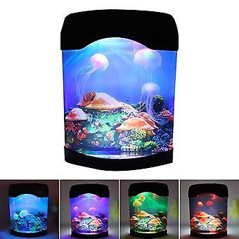 מנורת אור לילה אקווריום LED אור מלאכותי Seajelly טנק שחייה מנורה עבור שולחן הבית