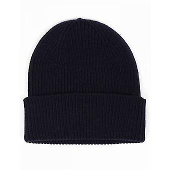 Colorful Standard Merino Wool Beanie Hat - Navy Blue