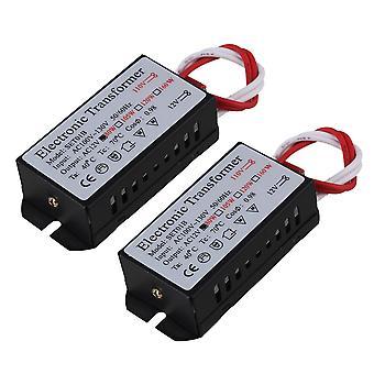 الجهد المحولات المنظمين 2x هالوجين المحولات الإلكترونية لمصباح الجدار 80w أسود 110v إلى 12v ac ppm-3945