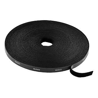 Drücken SIE die Velcro auf Rollen, Breite 10 mm, 15 m, schwarz