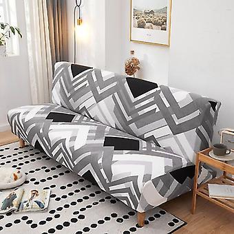 الطباعة الهندسية الحديثة للطي غطاء السرير أريكة دون مسند الذراع تغطية الأريكة تمتد العالمية الأثاث زلة أريكة حامي