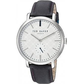 Reloj Ted Baker Black Genuine Leather TE15193007 Para Hombre