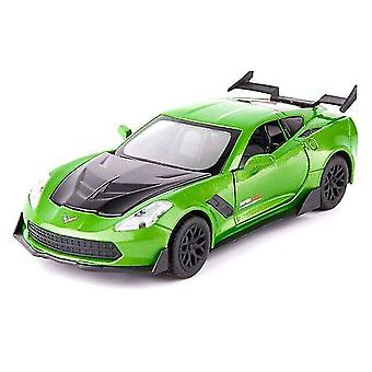 Toy cars 1/32 alloy die cast corvette sports car model toy simulation sound light pull back collection toys