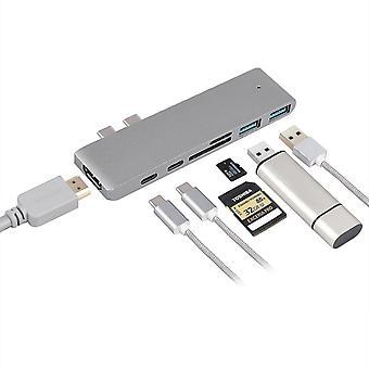 Usb adapters 7 in 1 usb c hub type-c card thunderbolt 3 port reader adapter