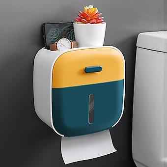 Seinään asennettu WC-paperiteline Vedenpitävä Kantoteline Annostelija Vahva Säilytys Kylpyhuone Koti Kylpyhuone Tarvikkeet