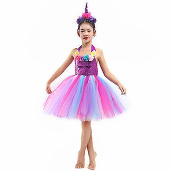 Dievčatá Jednorožec Dúha Tutu Princezná Cosplay Party Detské kostýmy