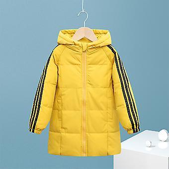 Sárga gyermek down jacket gyermek hosszú kabát fiúk és lányok pamut kabát