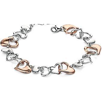 925 серебряные модные сердце браслет