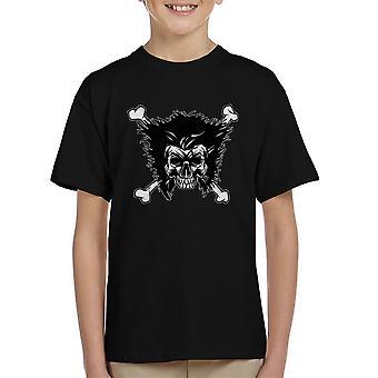 Jolly Logan Skull And Cross Bones Wolverine X Men Kid's T-Shirt