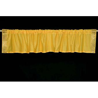 Yellow - Rod Pocket Top It Off handmade Sari Valance - Pair