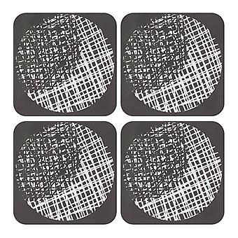 Ladelle Spotto Hardboard Set of 4 Coasters