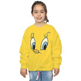 Looney Tunes Mädchen Tweety Pie Gesicht Sweatshirt