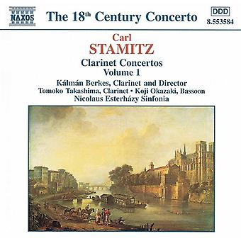C. Stamitz - Stamitz: Klarinetti konsertot, Vol. 1 [CD] USA tuonti