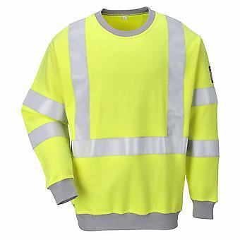 Portwest - Flamme widerstehen Sicherheit Workwear Anti-Static Hi-Vis Sweatshirt