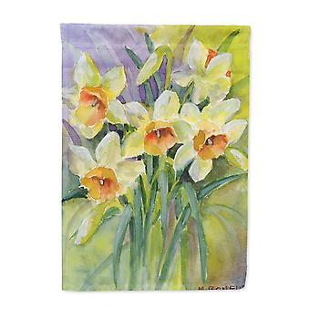 Daffodils by Maureen Bonfield Flag Canvas House Size