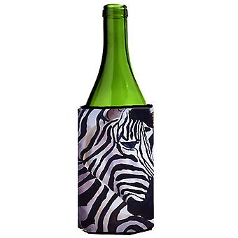 Zebra Head Wine Bottle Beverage Insulator Hugger
