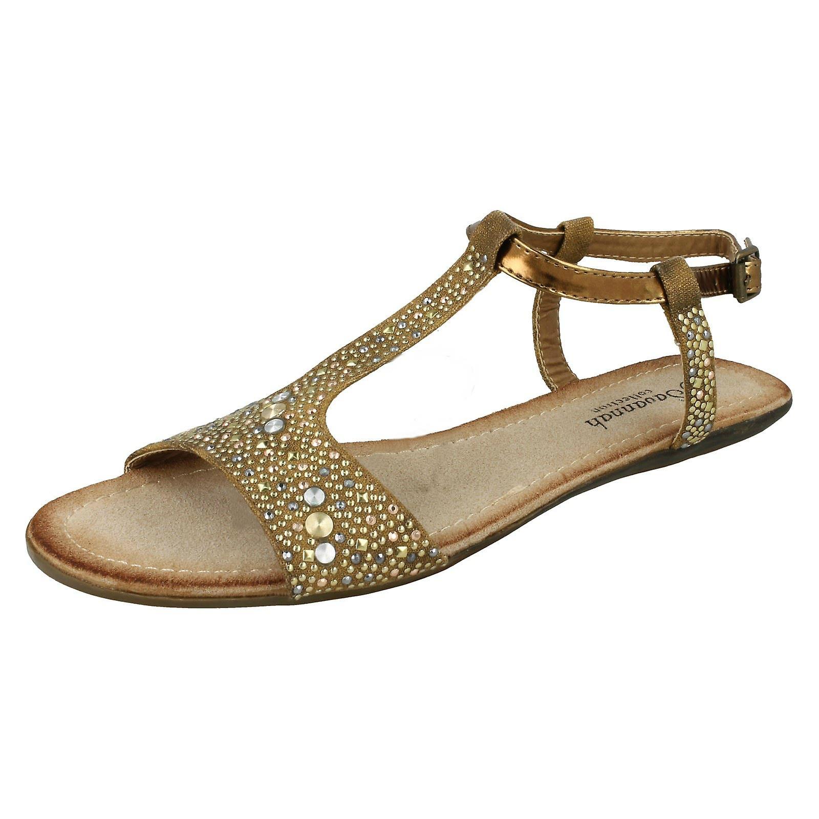 Ladies Savannah T-Bar Sandals F0771 VFnEc