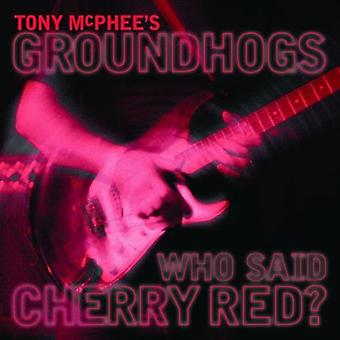 McPhee, Tony / Groundhogs - Who Said Cherry Red [CD] USA import
