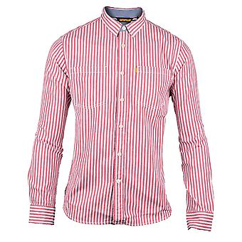CAT Lifestyle Mens C2611092 M Street Long Sleeve Striped Shirt