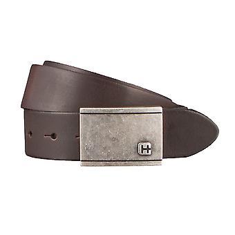 Hommes hattric ceinture cuir ceintures ceintures marron 2923