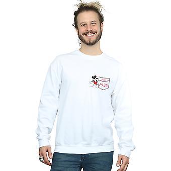 Disney mäns Musse Pigg Faux Pocket sedan 1928 Sweatshirt