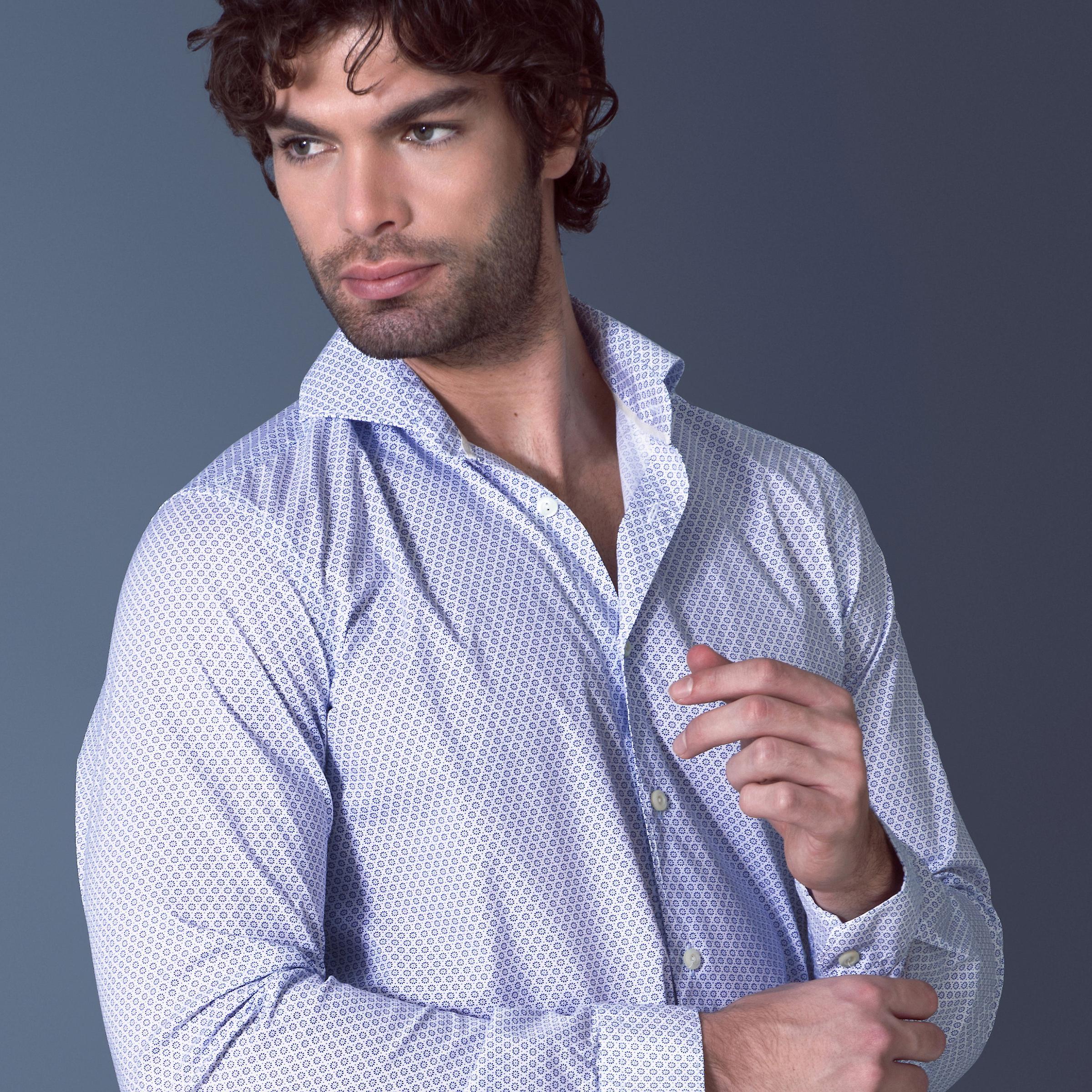 Fabio Giovanni Miggiano Shirt - Lightweight Poplin Cotton Italian Casual Shirt