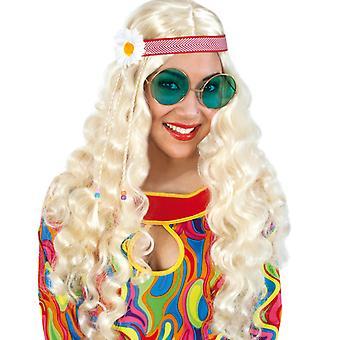 Paruka hippie s hlavovým pásem 70tá