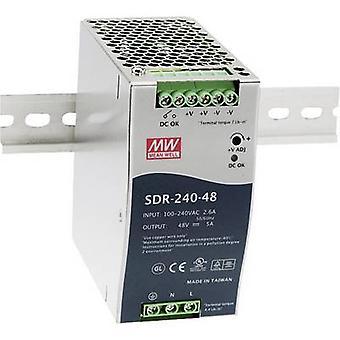 Gjennomsnittlig brønn SDR-240-48 rail montert PSU (DIN) 48 V DC 5 A 240 W 1 x