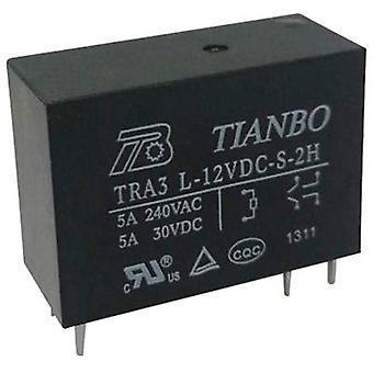Tianbo Electronics TRA3 L-12VDC-S-2H PCB relay 12 V DC 8 A 2 makers 1 pc(s)