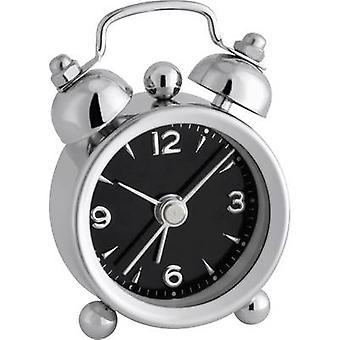 TFA Dostmann 60.1000.01 QuarzWecker Chrom Alarmzeiten 1