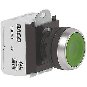 BACO L21AA01Q drukknop voor ring (staal), verchroomd rood 1 PC (s)