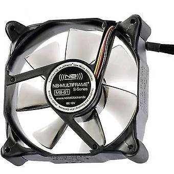 NoiseBlocker Multiframe M8-S1 PC fan Black, Grey (transparent) (W x H x D) 80 x 80 x 25 mm