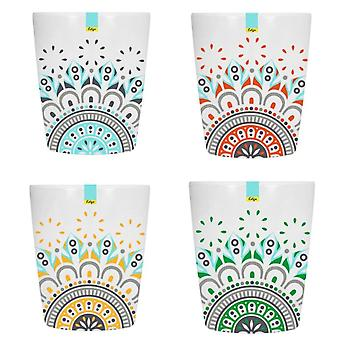 Red Blue Orange Green Melamine Abstract Summer - Tumbler 70 x 84mm Camping Kitchen